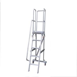 (375LBS) 1.37m Aluminum Alloy Detachable Platform Ladder with Casters pictures & photos