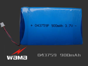 3.7V 403759 900mAh Lithium Ion Polymer Battery for Digital camera