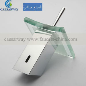 Waterfall Basin Faucet Mixer with LED Glass pictures & photos