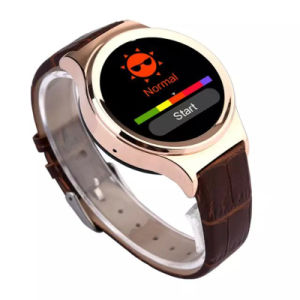 Fashionable Round Shape Health Care Bluetooth Smart Watch with Heart Rate Monitor