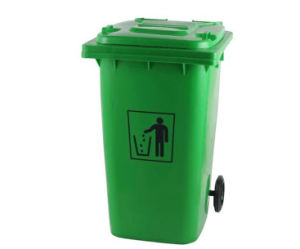 Outdoor Plastic Eco-Friendly Trash Can with 2 Wheels pictures & photos
