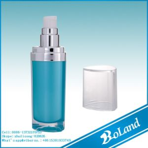 (D) 30ml Cylindrical Cosmetic Lotion Container Acrylic Airless Bottle