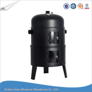Outdoor Steel Barrel Charcoal BBQ Smoker Grill