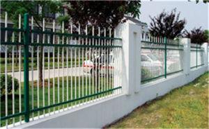 Steel Wall Fence of Three Horizontal Columns