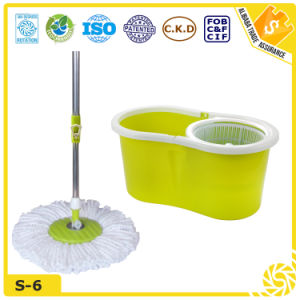 Double Device Microfiber Spin Mop pictures & photos