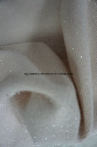 White Wool Fabric Within Wire