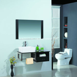 Custom Stainless Steel Frame Melamine Bathroom Cabinet pictures & photos