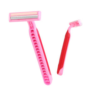 Triple Blade Stainless Steel Disposable Razor for Woman.
