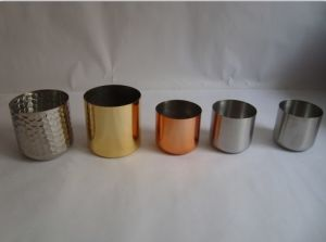Stainless Steel Candle Holder with Copper Colour pictures & photos