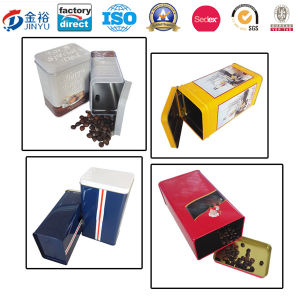 Hinged Custom Size Metal Coffee Packaging for Coffee Tea pictures & photos