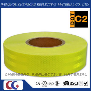 High Visibility Fluorescent Lime Yellow Reflective Tape for Bus (CG5700-OF) pictures & photos