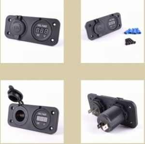 DC 12V Power Socket and Digital Voltmeter for Car Automotive Marine Boat Yacht Motorcycle pictures & photos