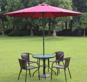 Wholesale Durable Sun Protection Fashion Design Umbrella for Hotel Resort Deluxe Outdoor Parasol pictures & photos
