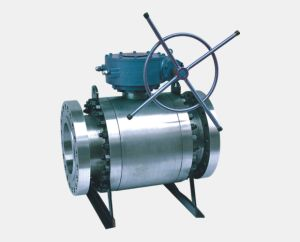 Turbine Flanged Full Bore Stainless Steel Ball Valve pictures & photos