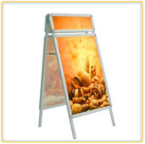 Double Side Pavement Poster Stand with Header (A1) pictures & photos