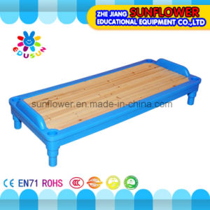 Blue Plastic Wooden Kids Bed for Kindergarten pictures & photos