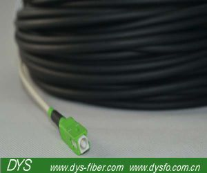 Simplex Optical Fiber Patch Cord Black with Pulling Eye, Multimode or Singlemode pictures & photos