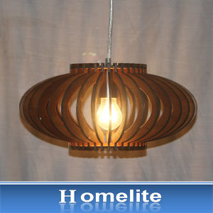 Chinese Lantern Wood Pendant Indoor Light for Coffee House