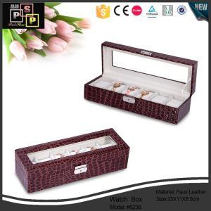 Luxury Trending New Products 2016 Leather Watch Case pictures & photos