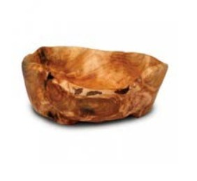 Natural Color #2225 Wooden Fir Root Carved by Hand Medium Bowl