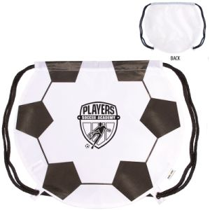 210d Nylon Soccer Ball Drawstring Backpack (PM190) pictures & photos