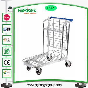 200kg Warehouse Foldable Storage Hand Shopping Trolley pictures & photos