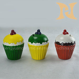 Cupcake Shape Ceramic Coin Bank for Kids pictures & photos