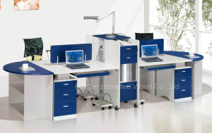 Popular Office Workstation with Side Cabinet and Fixed Pedestal (HF-YT007) pictures & photos