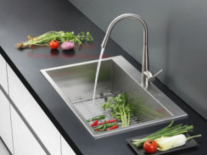 Kitchen Sink, Stainless Steel Sink, Sink, Handmade Sink, Stainless Steel Topmount Handmade Kitchen Sink pictures & photos