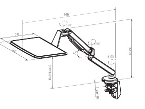 Dual Arms Desktop Mount Sit Stand Laptop Tray (DLB772) pictures & photos