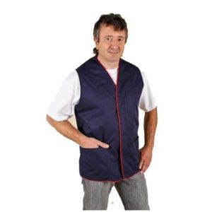 Simple Design Waistcoat Work Vest with Piping Around The Edge (UF239W) pictures & photos
