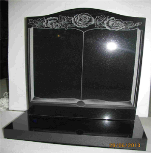 Polished Absolute Black Hebei Black Stone Carving Black Granite Monument pictures & photos