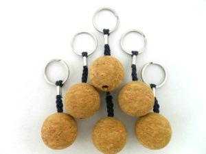 Custom Cork Ball Key Chain pictures & photos