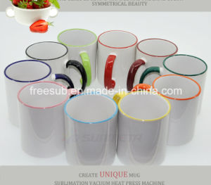 Freesub Rim and Handle Color Mug for Sublimation (SKB-02) pictures & photos