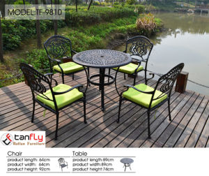 Cast Aluminum Modern Bistro Set Patio Furniture pictures & photos
