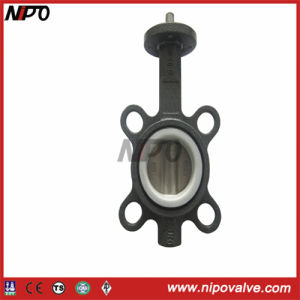 Wafer Type Line Fluorine Butterfly Valve pictures & photos