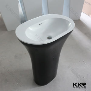 Oval Shaped Artificial Stone Resin Toilets Basin Sets (B1705024) pictures & photos