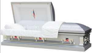 20ga Steel Casket with Amrican Flag 1008s pictures & photos