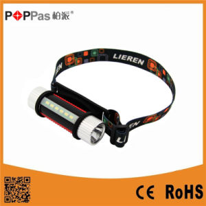 Poppas S150 3W 130lm Multi-Function XP-E R2/6PCS SMD LED Headlamp pictures & photos
