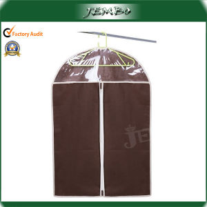 Customized Recyclable Zipper Clear Window Garment Bags pictures & photos