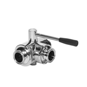 Sanitary Valve Series Three-Way Type Clamp Ball Valve pictures & photos