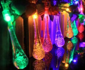 Solar Power LED String Light Raindrop Christmas Light Lh-Ss20