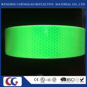 Fluorescent Green PVC Safety Reflective Tape /Material pictures & photos