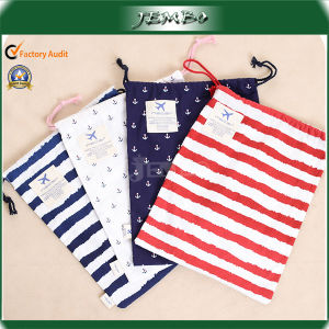 High Quality Recycled Fashion Strip Cotton Canvas Gift Bag pictures & photos