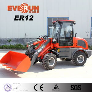 Everun New Er12 Garden Tool Moving Type Compact Front Wheel Loader with Grass Forks pictures & photos