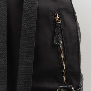 Black Nylon Leather Rivet School Backpack (15A054) pictures & photos