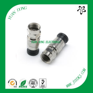 CATV Connector F Compression Connector for RG6 Coaxial Cable pictures & photos