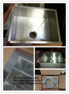 Sink, Single Bowl Handmade Sink, Zero Radius Handmade Stainless Steel Sink Hmss2218 pictures & photos
