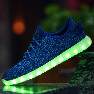 35-46 Plus Size Men Shoes Casual LED Shoes Breathable Men Casual Shoes Light Lace up pictures & photos