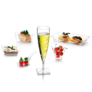 PP/PS Plastic Cup Square Bottom Champagne Glasse pictures & photos